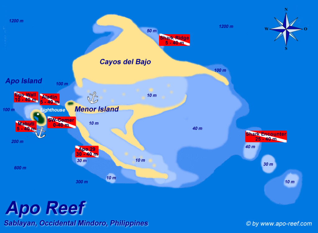 Map of Apo Reef